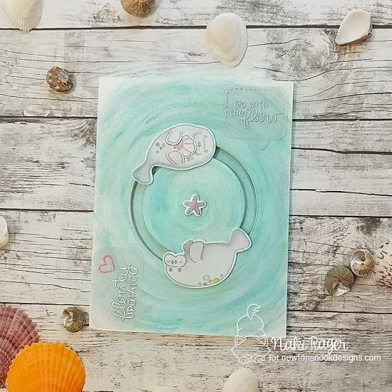 Manatee Card by Naki Rager | Manatee-rific Stamp Set by Newton's Nook Designs #newtonsnook #handmade