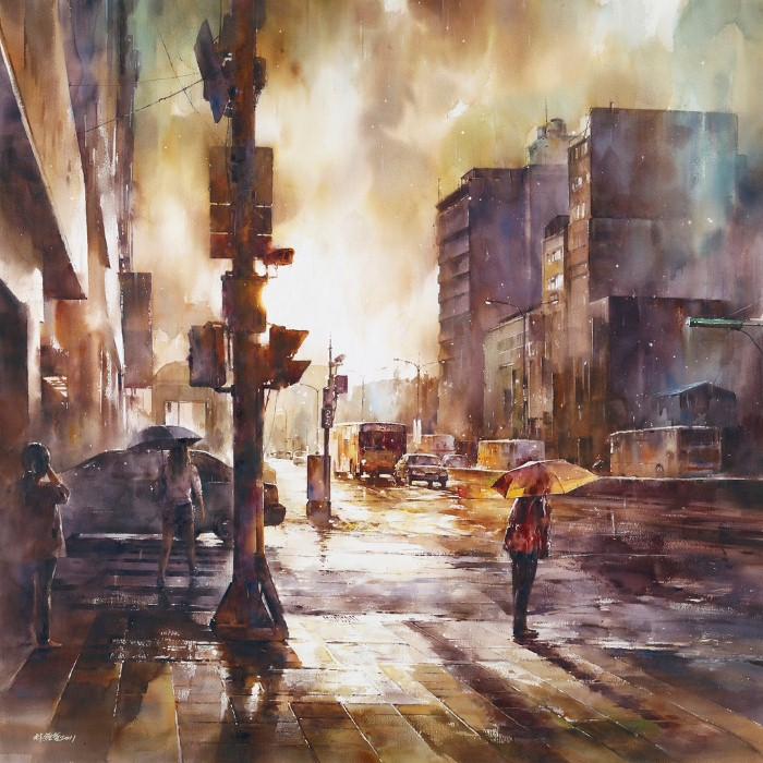 Акварельная живопись. Lin Ching Che 3