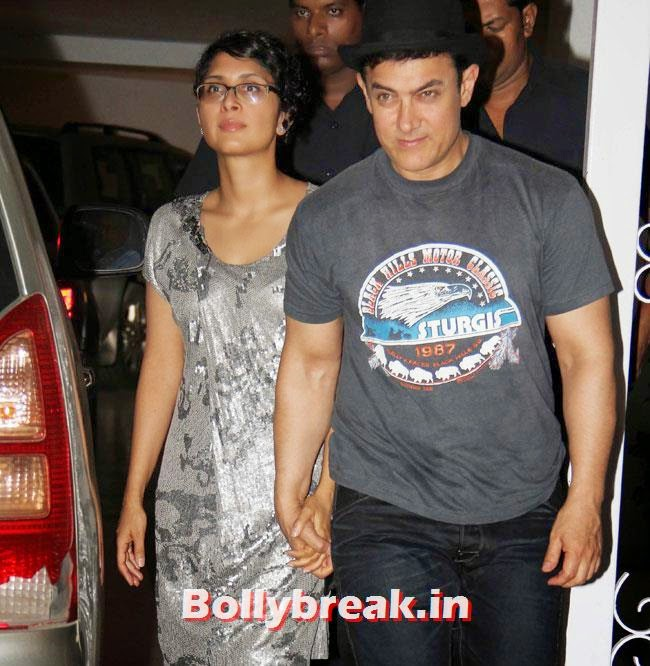 Kiran Rao and Aamir Khan, Karan Johar Birthday Party Pics 2014