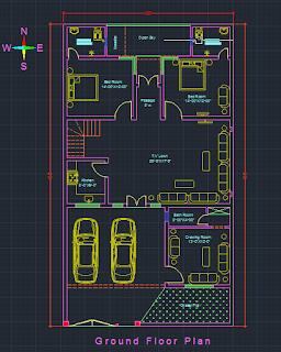 مخطط منزل dwg