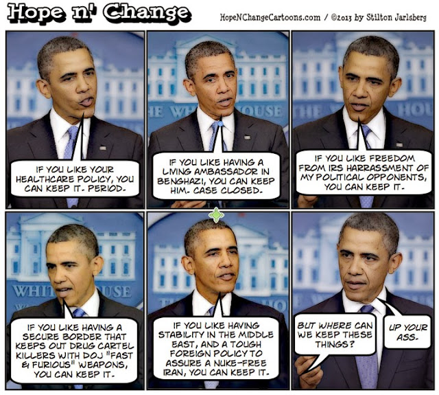 obama, obama jokes, cartoon, conservative, tea party, stilton jarlsberg, political, humor, jarrett, obamacare, like it, keep it, liar, benghazi, irs, middle east, fast and furious