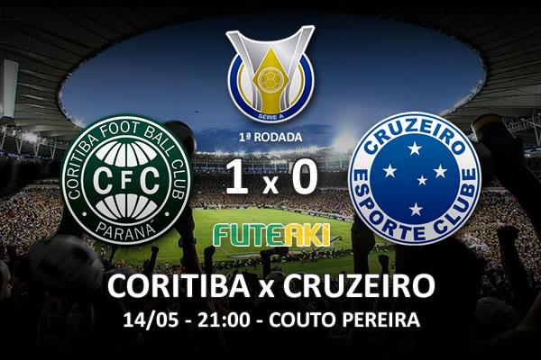 Veja o resumo da partida com o gol e os melhores momentos de Coritiba 1x0 Cruzeiro pela 1ª rodada do Brasileirão 2016.
