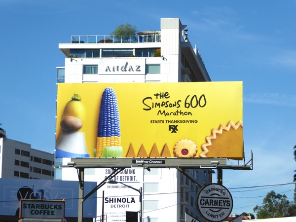 Simpsons 600 Marathon billboard