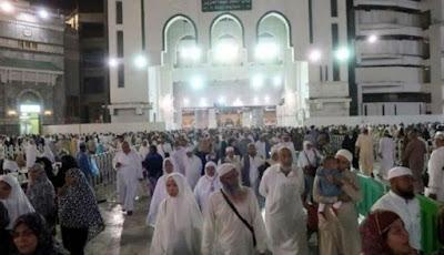 Jamaah umrah di Masjidil Haram Mekah