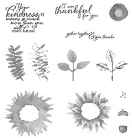 The Painted Harvest Stamp Set by Stampin' Up! is gorgeous and contains all the elements you need to stamp beautiful sunflowers.
