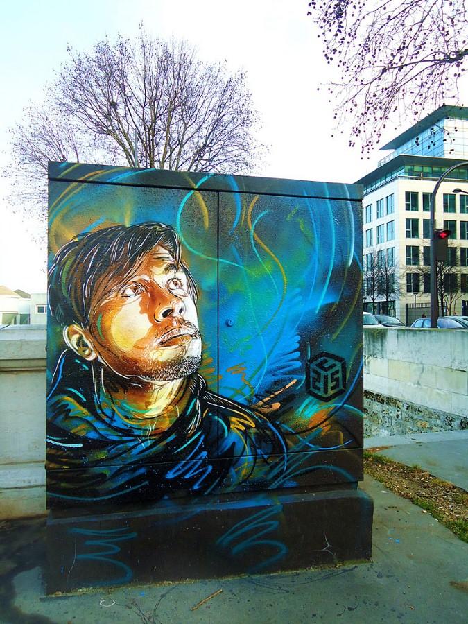 Уличное искусство Кристиана Гуеми (Christian Guémy aka C215) 43