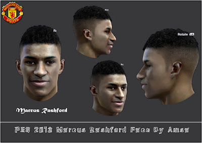 PES 2013 Marcus Rashford (Manchester United) Face by Amsa