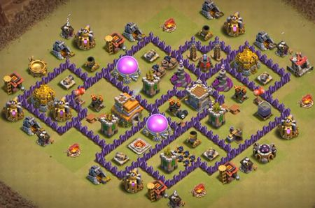 anti dragon coc th7 base design