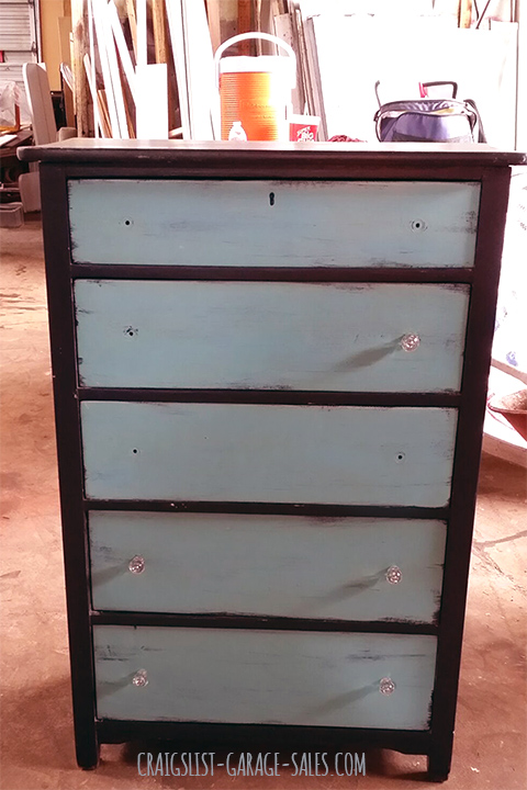 Hardware missing from Garage Sale dresser