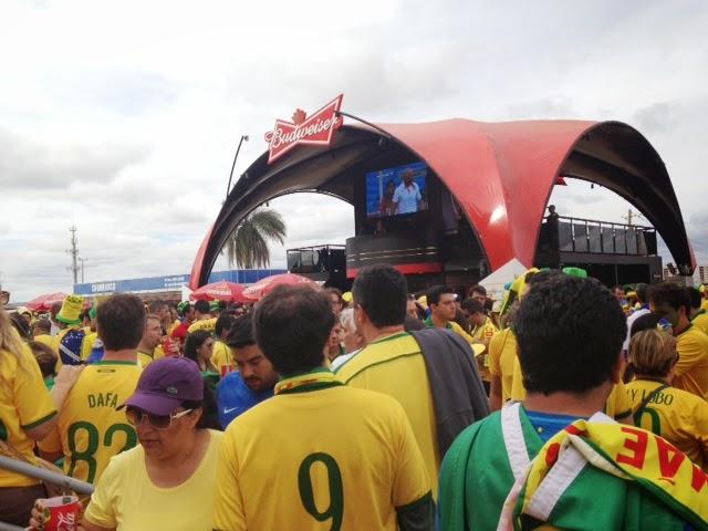 torcida brasileira dentro do estádio
