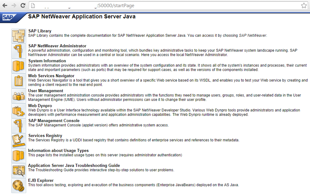 SAP NW 7 4 JAVA START PAGE SCREENSHOT - SAP BASIS ANSWERS | SAP