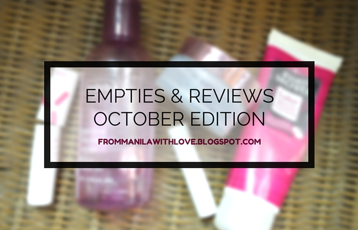 From Manila with Love Empties and Reviews 1