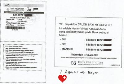 Contoh kartu ID BPJS Calon bayi
