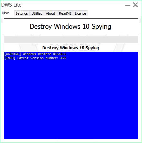 تحميل برنامج حماية الخصوصية على الانترنت Destroy Windows 10 Spying