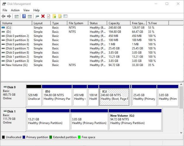 إصلاح أعطال سوفت وير جميع أنواع الأقراص الصلبة باستخدام أداة Disk Management