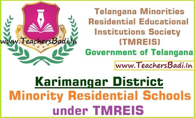 Karimnagar District,Minority Residential Schools,TMREIS