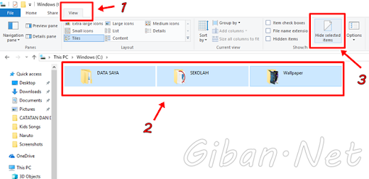 Cara Menyembunyikan File dan Folder pada Windows 10 Home