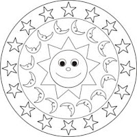 Malvorlagen Zum Ausmalen Mandala Malvorlage Sonne Mond Sterne