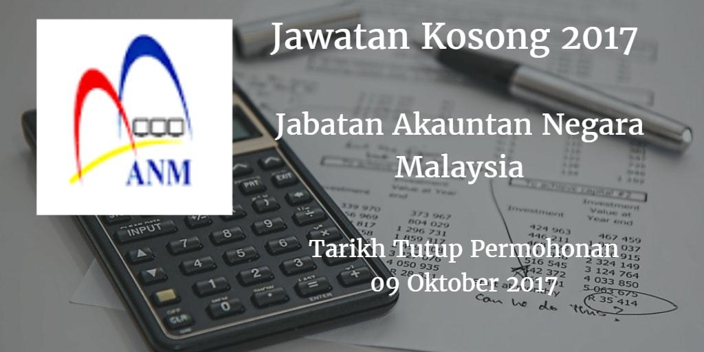 Jawatan Kosong ANM 09 Oktober 2017