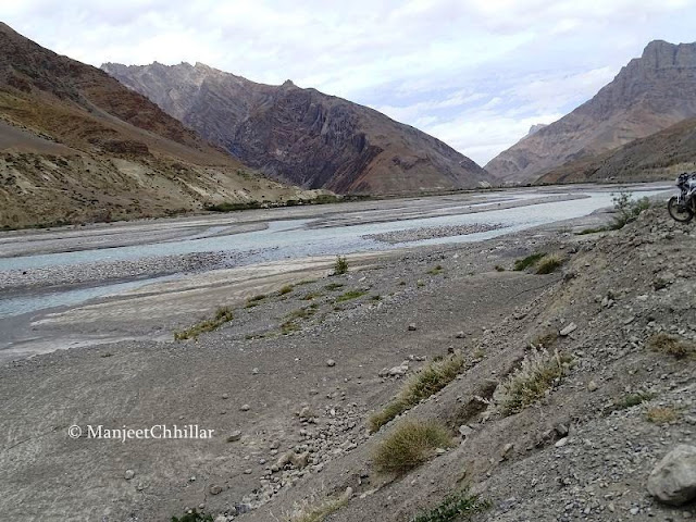 confluence of Pin and Spiti Rivers, Himachal