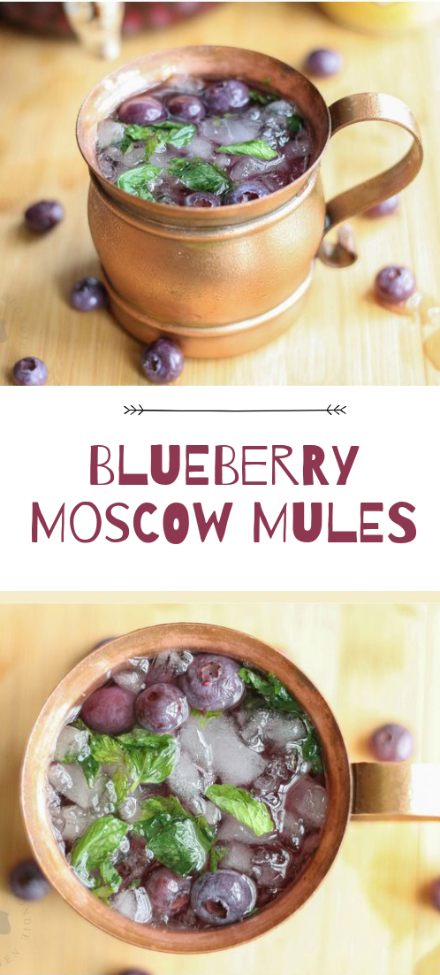 Blueberry Moscow Mules #healthydrink #easyrecipe