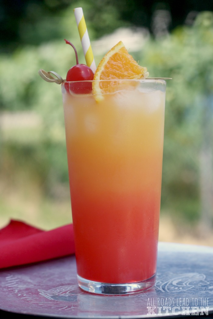 Tequila sunrise cocktail  Tequila Sunrise - All Roads Lead to the Kitchen