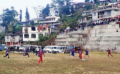 Football match organised by Darjeeling police