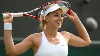 Sabine playing tennis