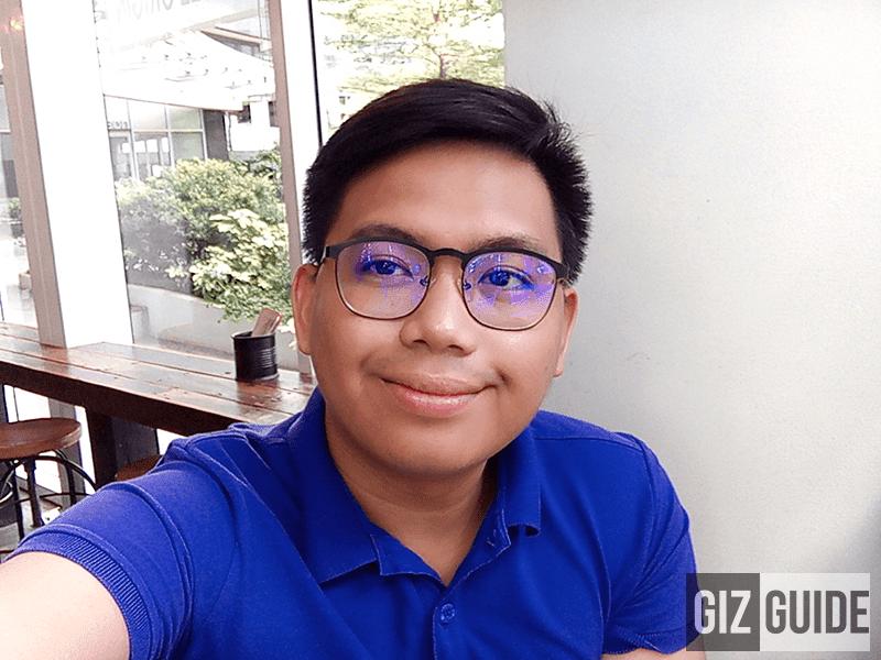 Indoor well-lit selfie