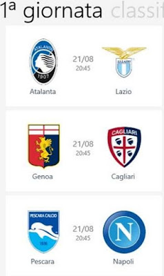 SERIE A TIM - CLASSIFICA CALENDARIO RISULTATI GOL LIVE SU WINDOWS PHONE