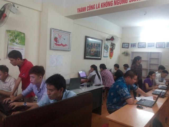 Các học viên trong lớp học wordpress
