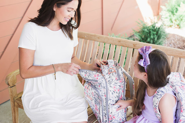Shop Pink Blush white maternity dress with Ju Ju be mommy and me style
