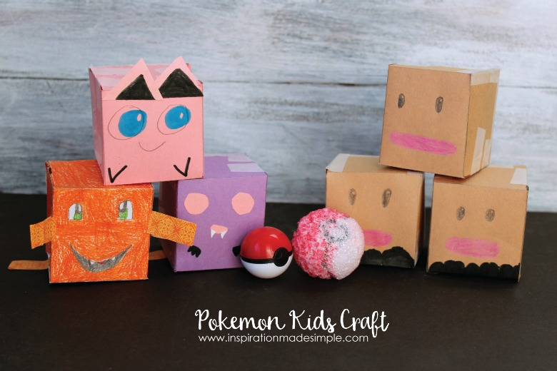 paper pokemon craft for kids