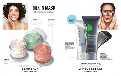 avon anew clay masks