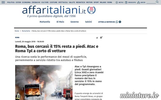 Roma, bus cercasi: Atac e Roma Tpl a corto di vetture