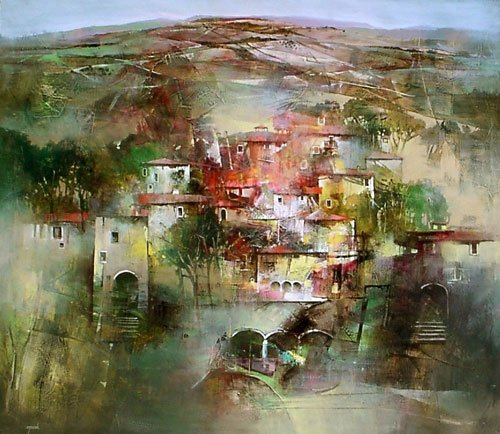Angelo Bellini 1938 | Italian Landscape painter