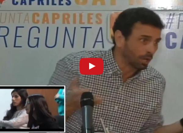 Capriles admite que se equivocó con el diálogo