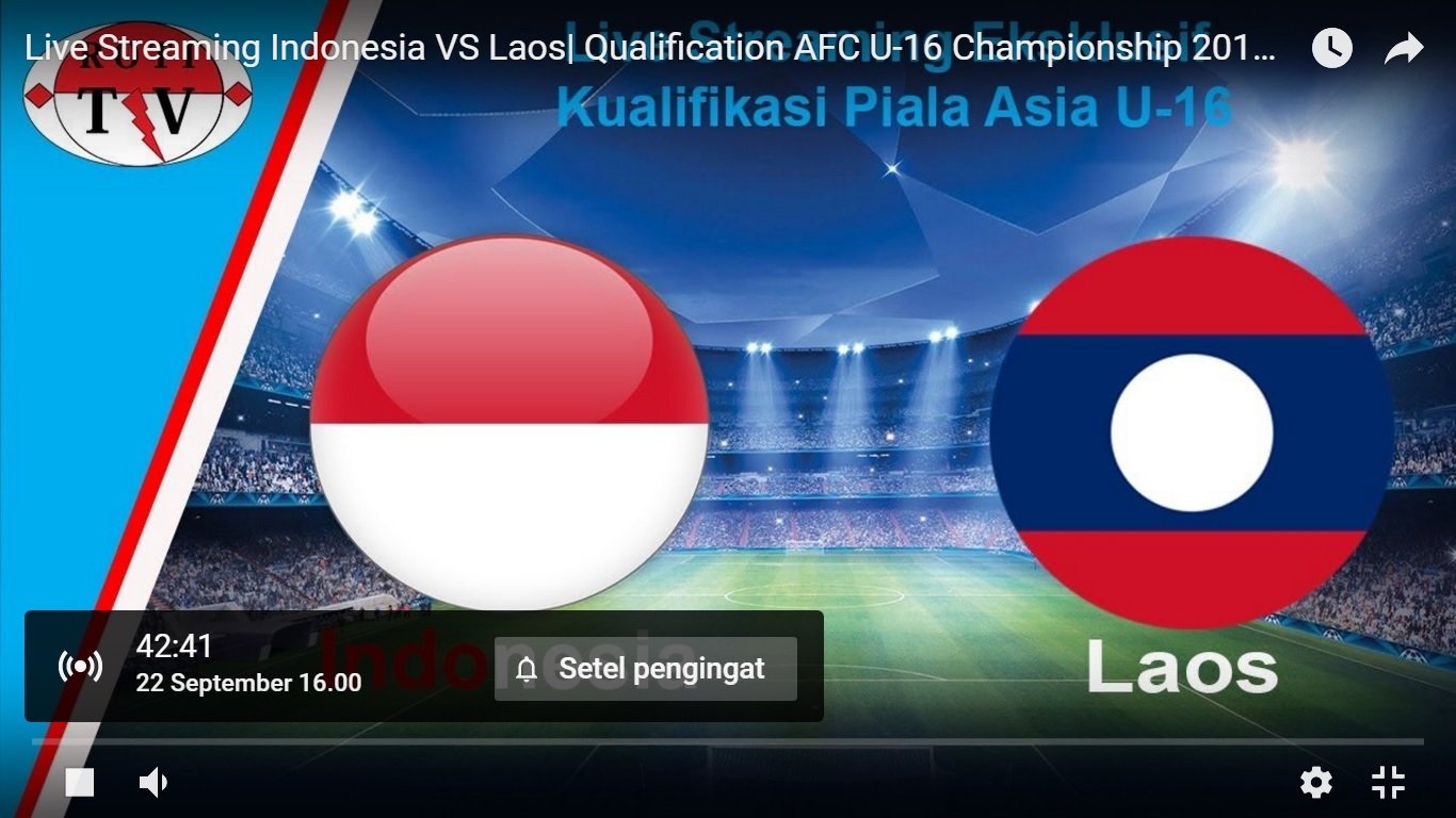 Live Streaming Timnas U16 Indonesia Vs Laos  Mari Dukung