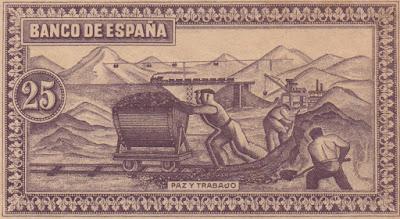 España: Billete de 25 pesetas 1937 Consejo Soberano de Asturias y León