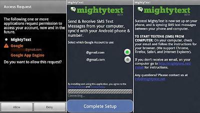 Mighty Text text messaging app
