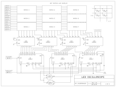 About Electronic: The LED scope schematics