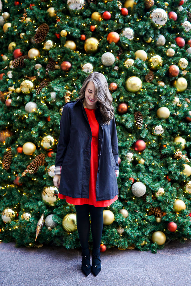 Krista Robertson, Covering the Bases, Travel Blog, NYC Blog, Preppy Blog, Style, Fashion Blog, Fashion, NYC Christmas, Soprano Red Bow Back Dress, Holiday Wear, Holiday dresses, Style