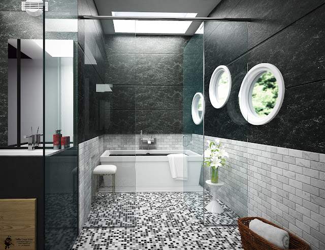 Bathroom Interior Design 3d Modeling Texturing Lighting Work Of Mine In 3ds Max 2017 Using V Ray 3 6 Composition In Adobe Photoshop Cs6