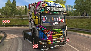 Sticker Bomb Scania 4 skin