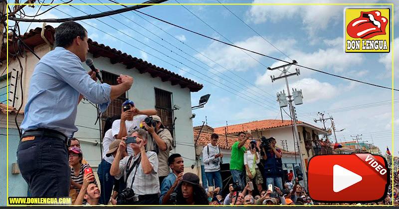 Juan Guaidó sigue desafiando al usurpador Maduro en Coro