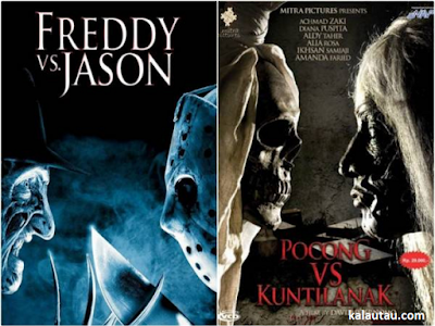 kalautau.com - Freddy VS Jason dan Pocong VS Kuntilanak