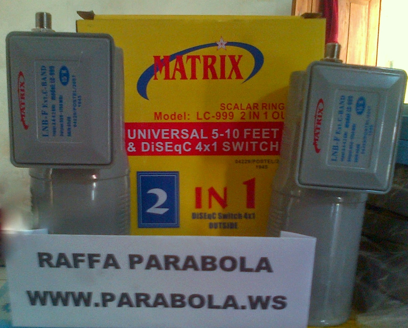 LNBF C Band Matrix 2 Satelit 1 Reciever parabola