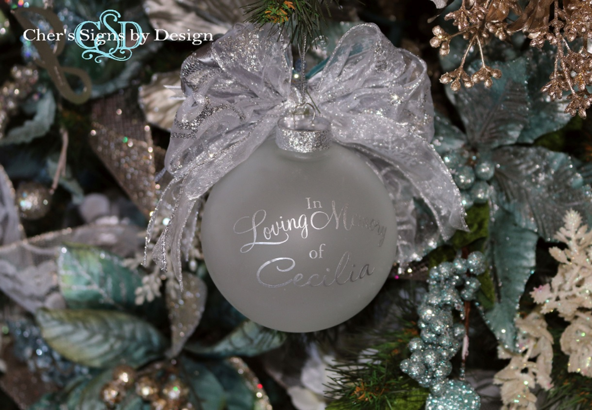 Because Someone We Love Is In Heaven Ornament With Back Personalization