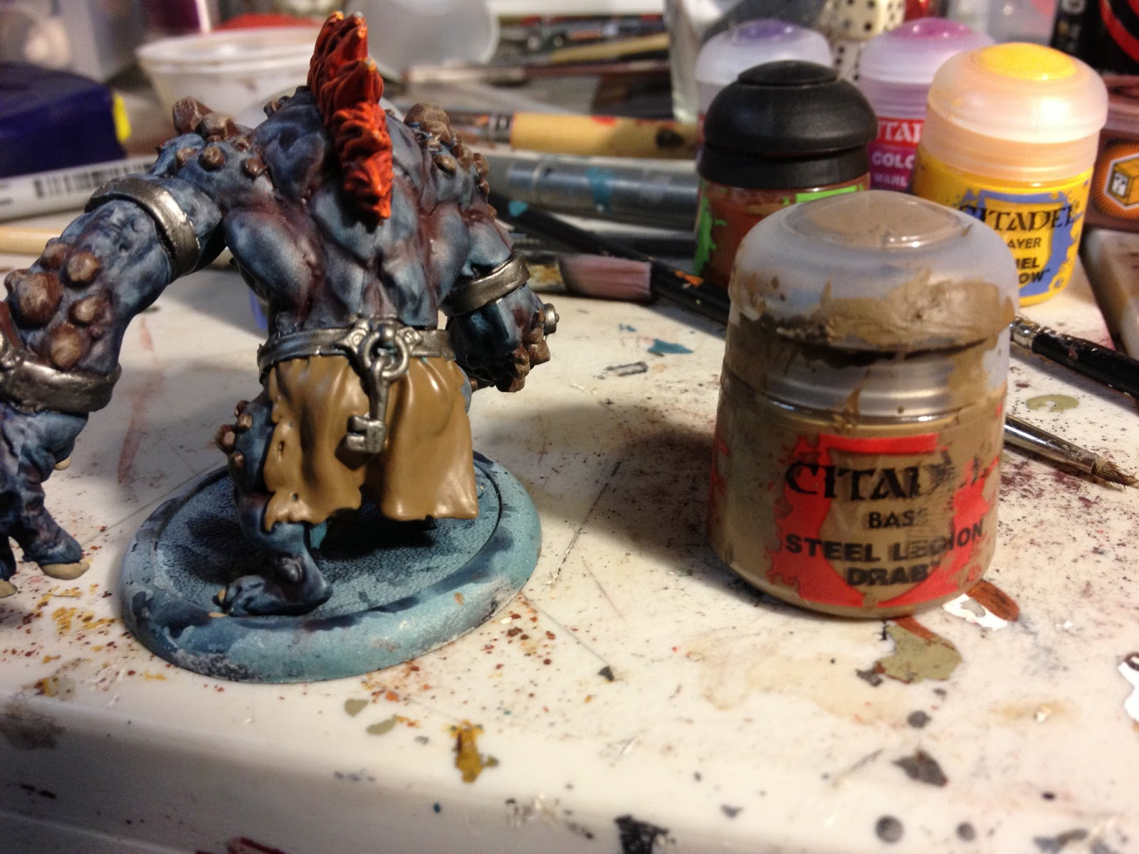 Army Undecided: Painting a Trollblood Dire Troll Mauler ...