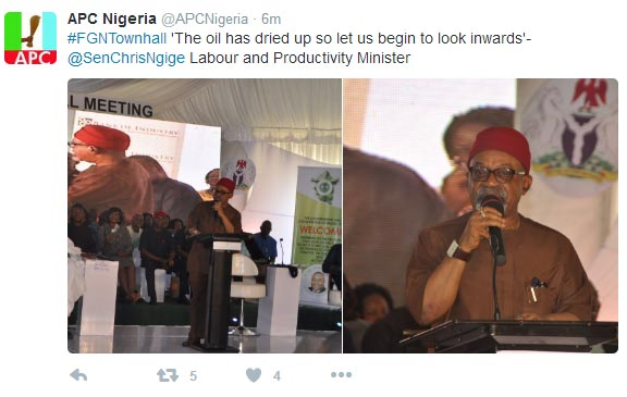 See what labour minister Ngige said during FG town hall meeting in Enugu yesterday